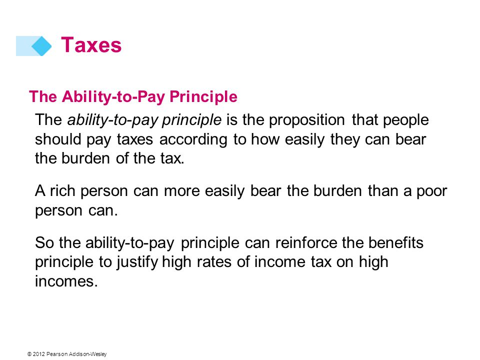 Taxes The Ability-to-Pay Principle