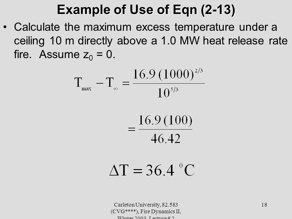 Example of Use of Eqn (2-13)