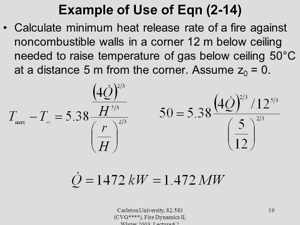Example of Use of Eqn (2-14)