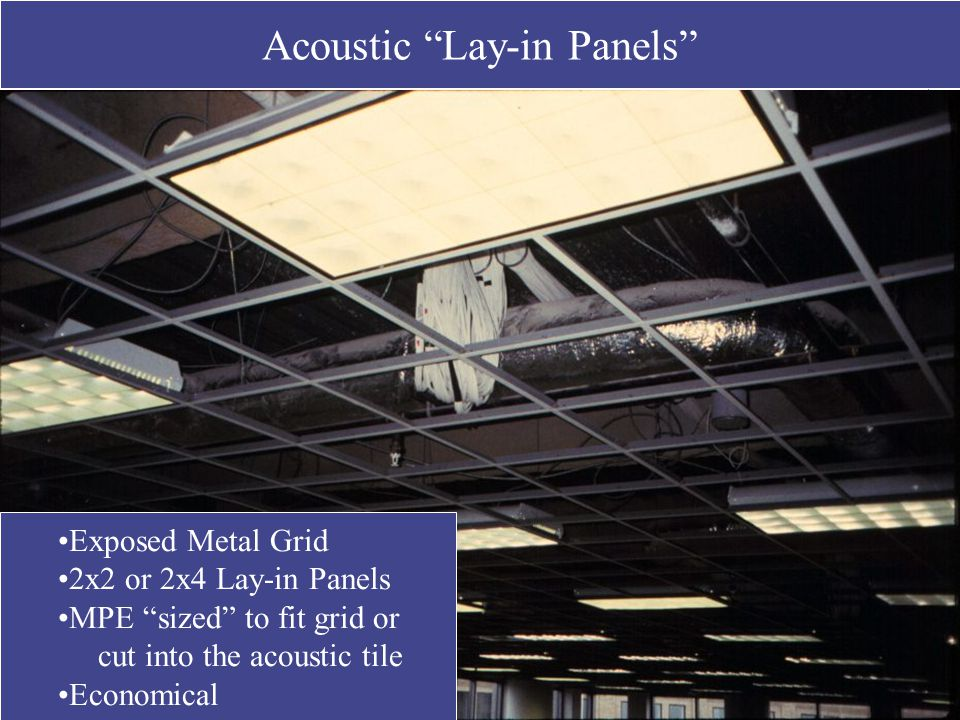 Acoustic Lay-in Panels