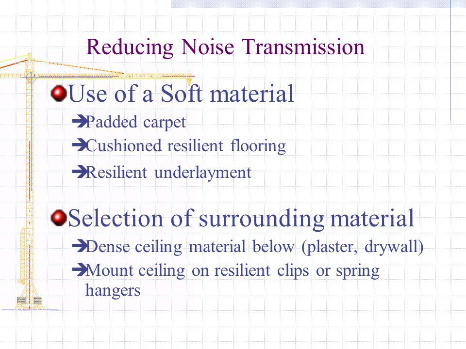 Reducing Noise Transmission