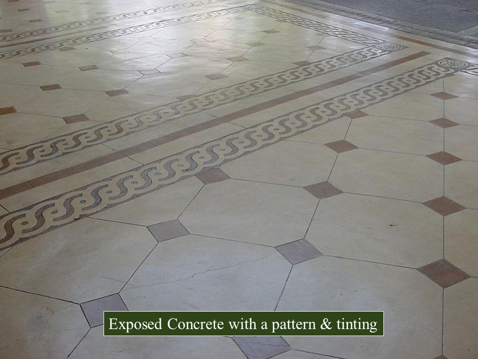 Exposed Concrete with a pattern & tinting