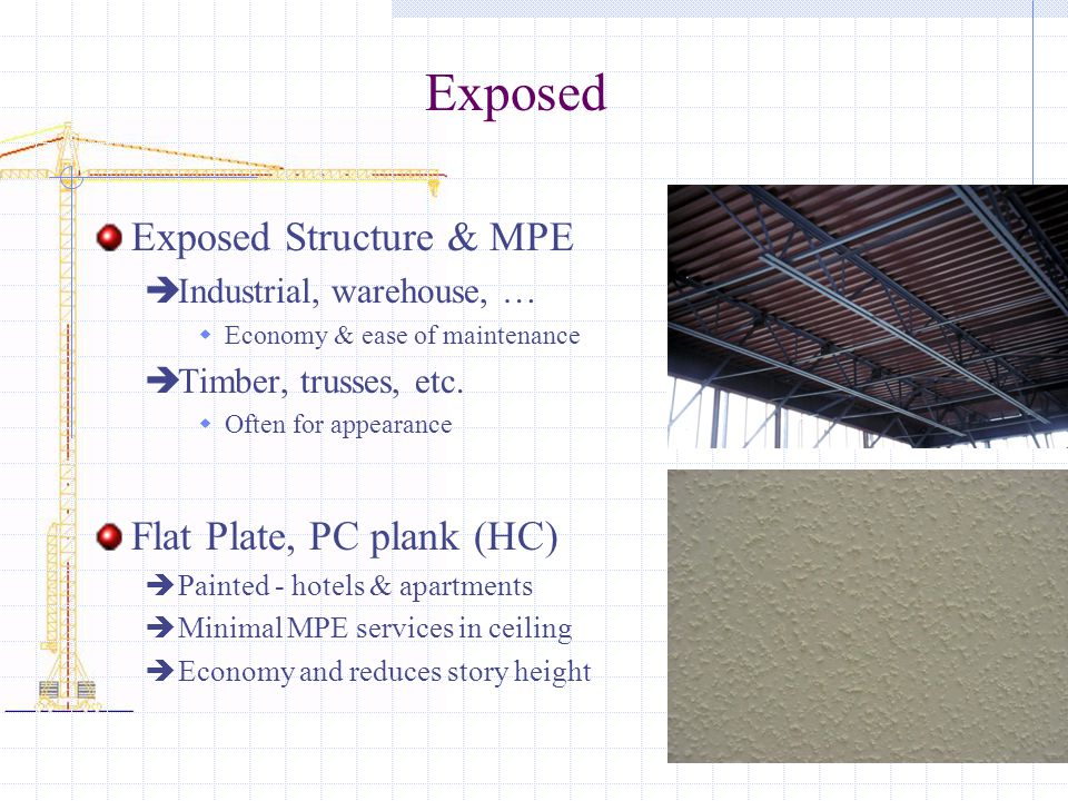 Exposed Exposed Structure & MPE Flat Plate, PC plank (HC)
