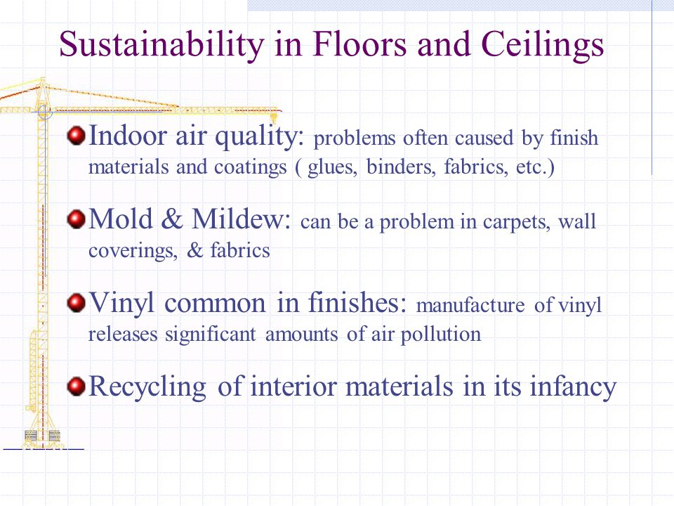 Sustainability in Floors and Ceilings