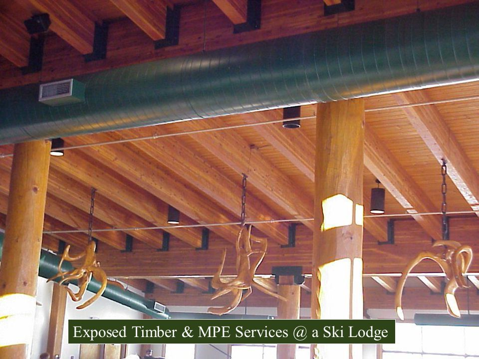 Exposed Timber & MPE Services @ a Ski Lodge