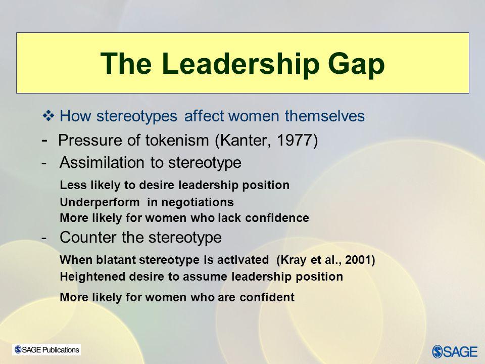 The Leadership Gap - Pressure of tokenism (Kanter, 1977)