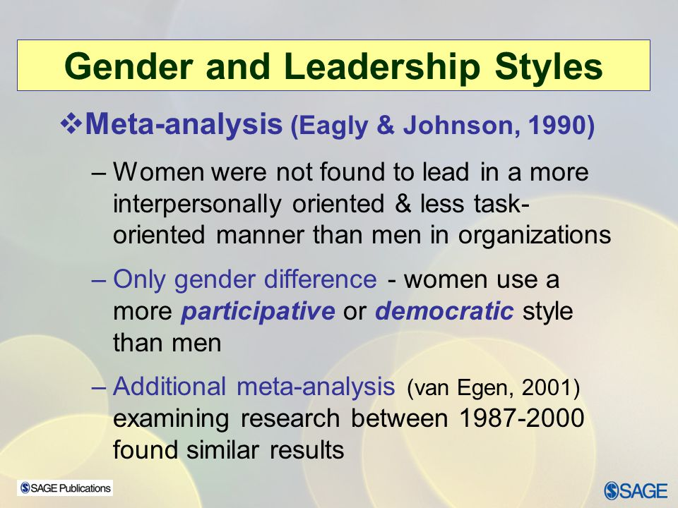 Sex differences in leadership