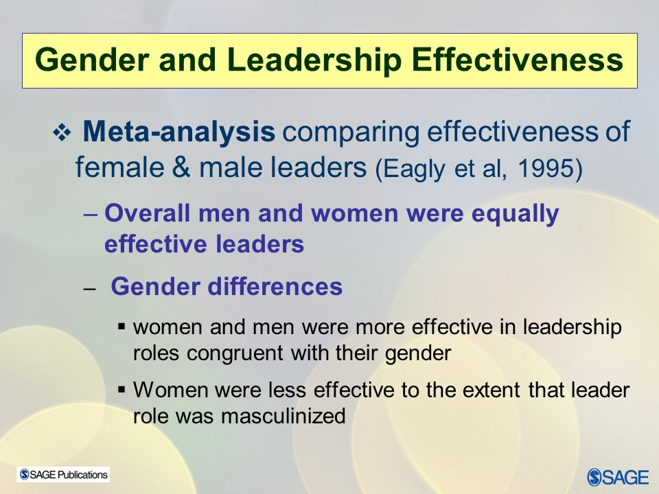 Gender and Leadership Effectiveness