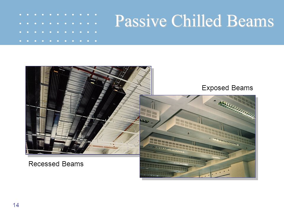 Passive Chilled Beams Exposed Beams Recessed Beams
