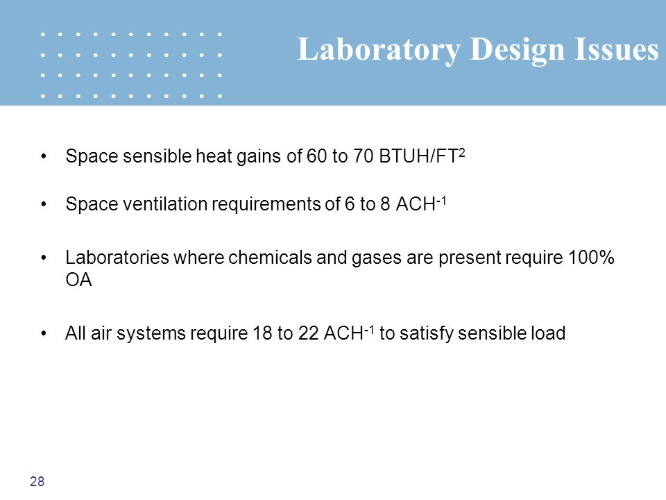 Laboratory Design Issues