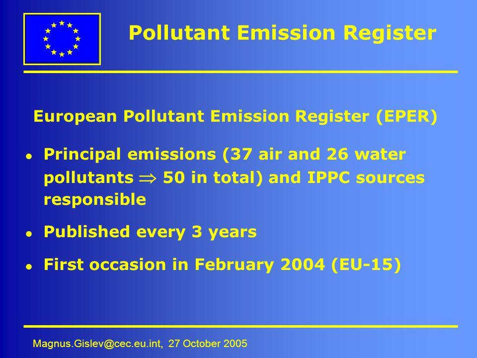 Pollutant Emission Register
