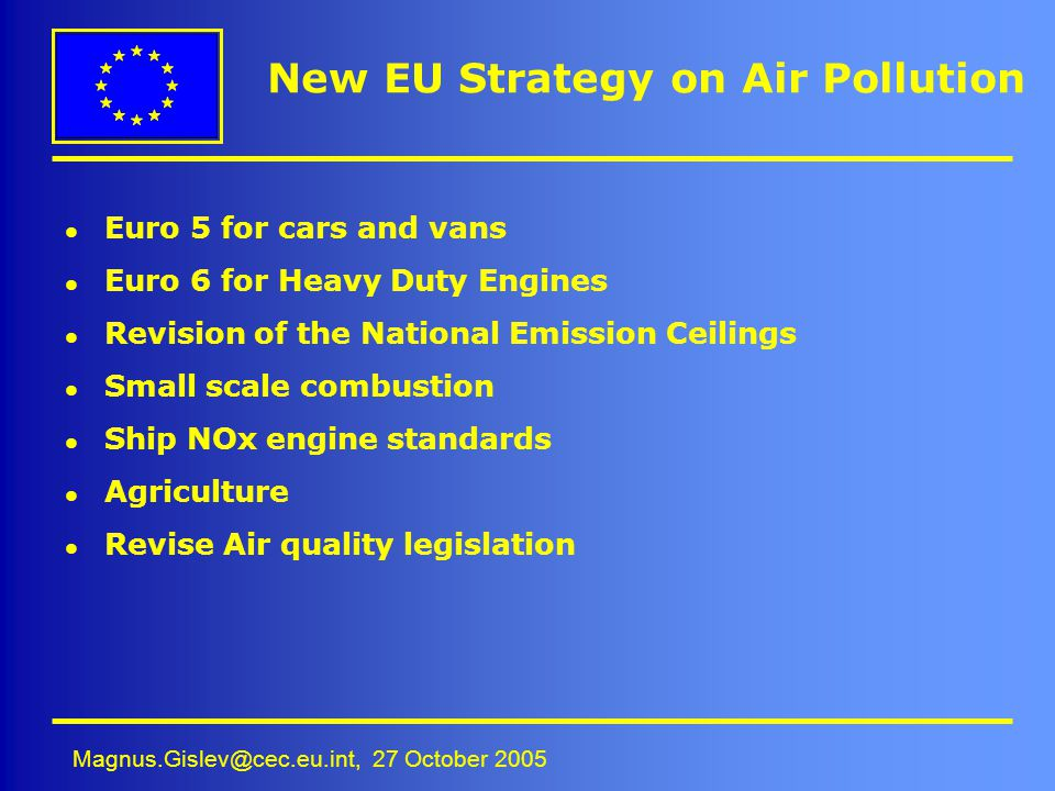 New EU Strategy on Air Pollution