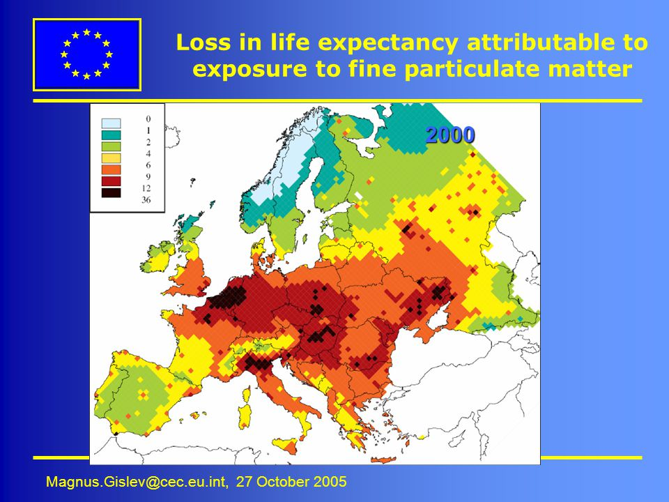 Loss in life expectancy attributable to exposure to fine particulate matter