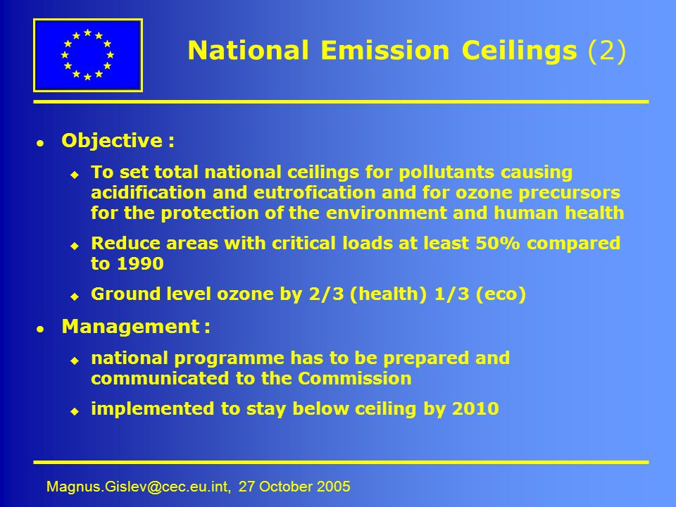 National Emission Ceilings (2)