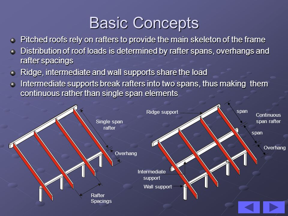 Continuous span rafter