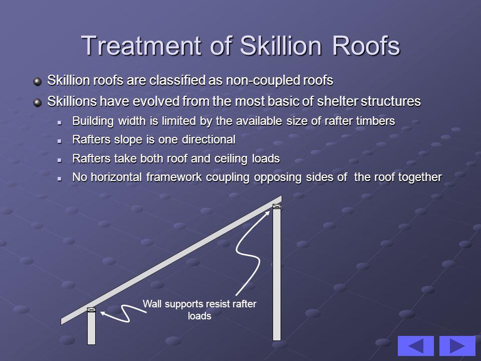Treatment of Skillion Roofs