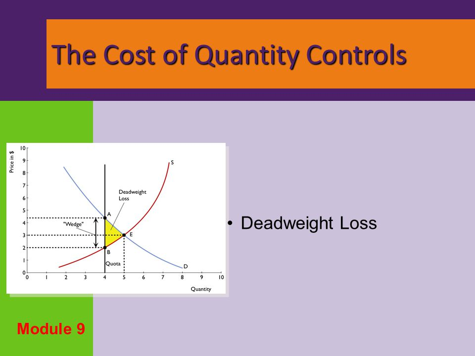 The Cost of Quantity Controls