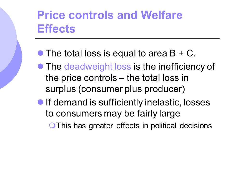 Price controls and Welfare Effects
