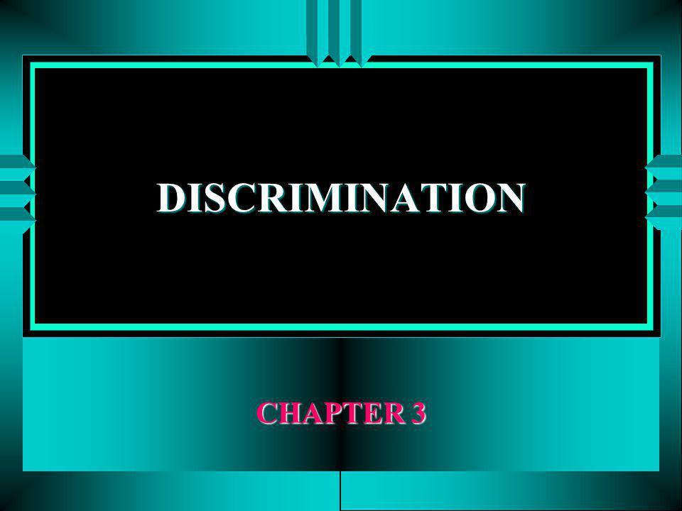 DISCRIMINATION CHAPTER 3
