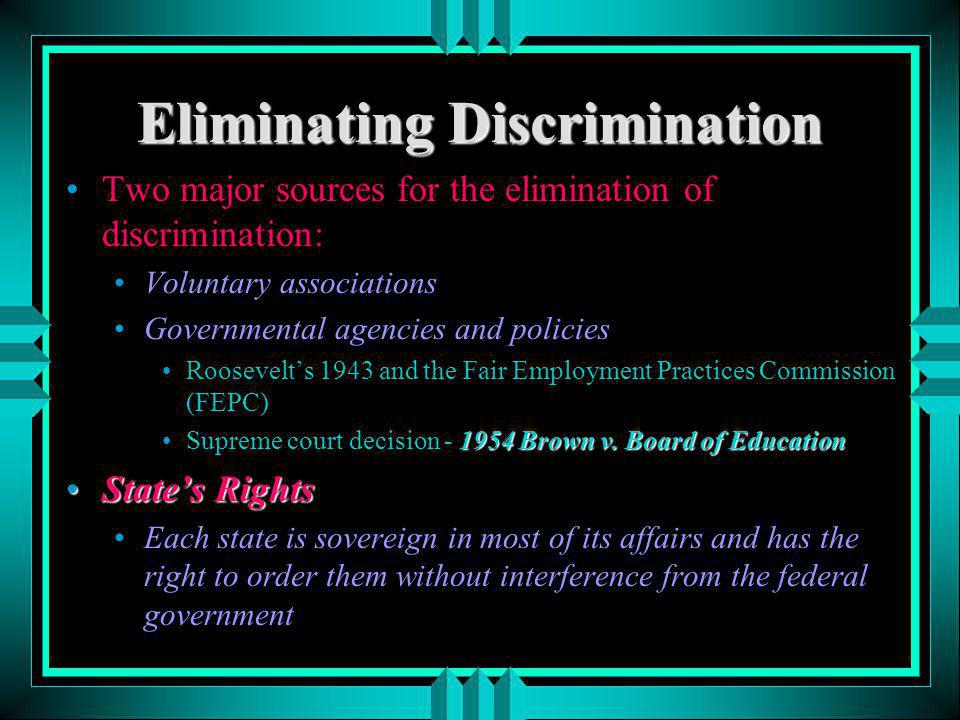 Eliminating Discrimination