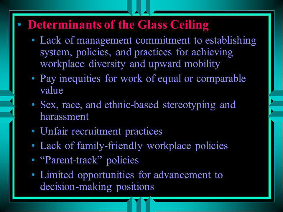 Determinants of the Glass Ceiling