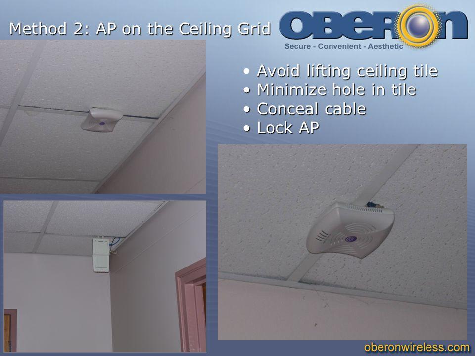 Method 2: AP on the Ceiling Grid