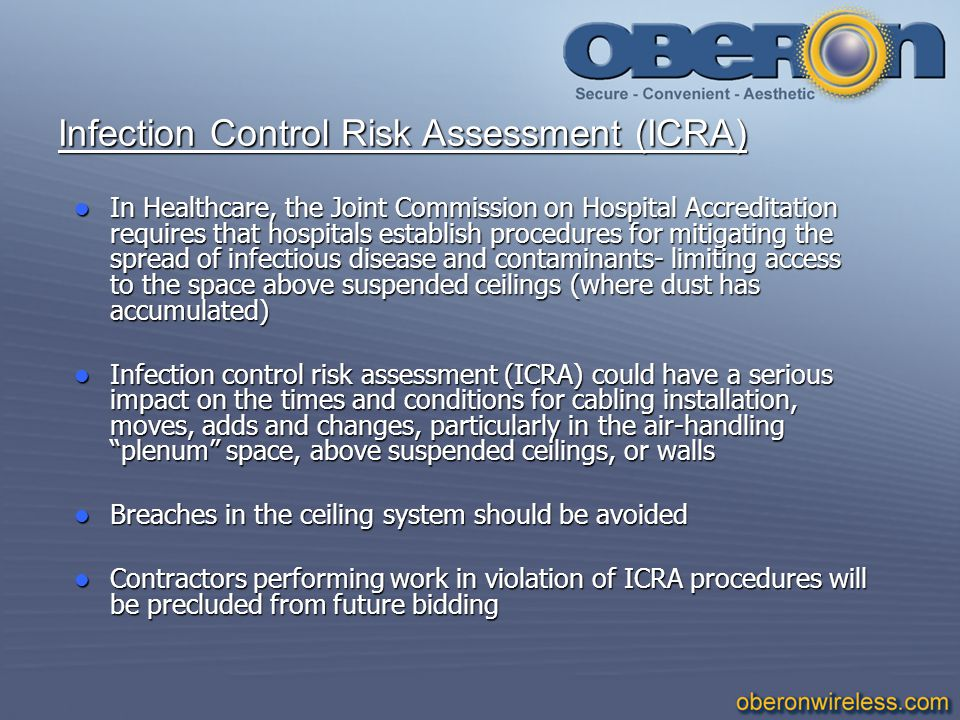 Infection Control Risk Assessment (ICRA)
