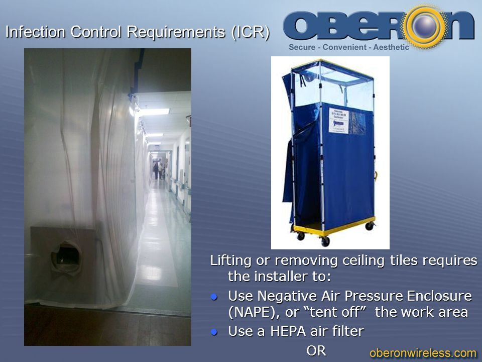 Infection Control Requirements (ICR)