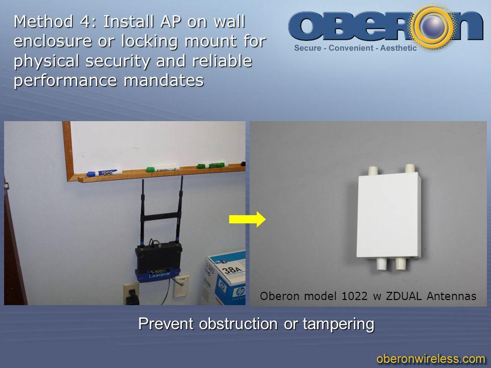 Method 4: Install AP on wall