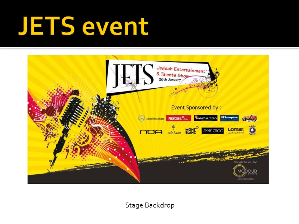 JETS event Stage Backdrop