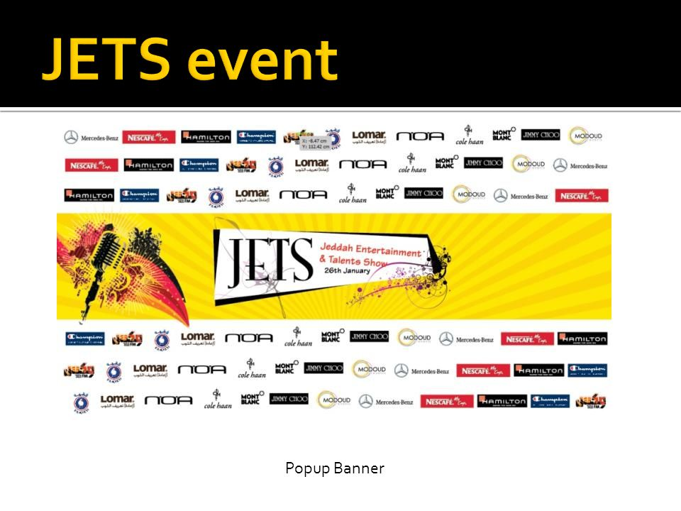 JETS event Popup Banner