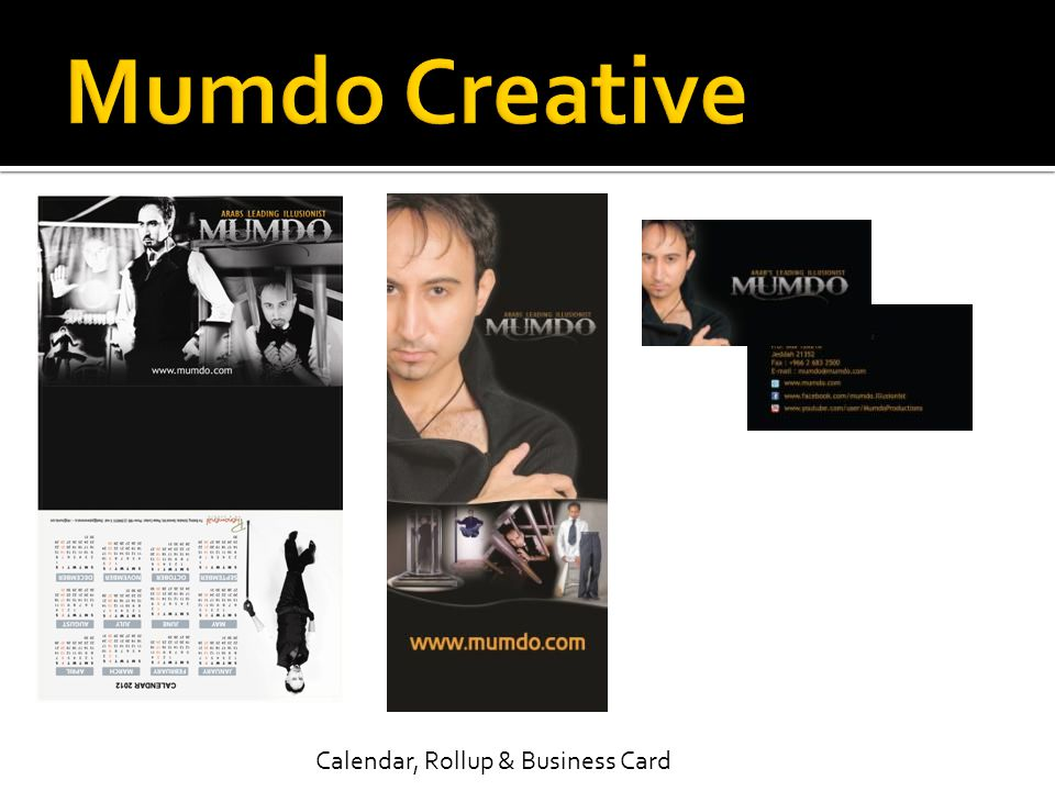 Mumdo Creative Calendar, Rollup & Business Card