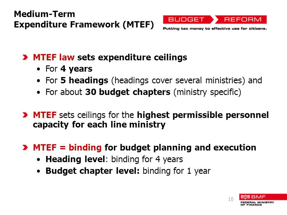 Medium-Term Expenditure Framework (MTEF)