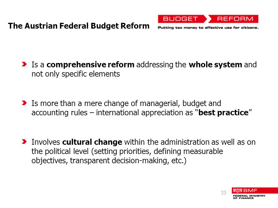 The Austrian Federal Budget Reform