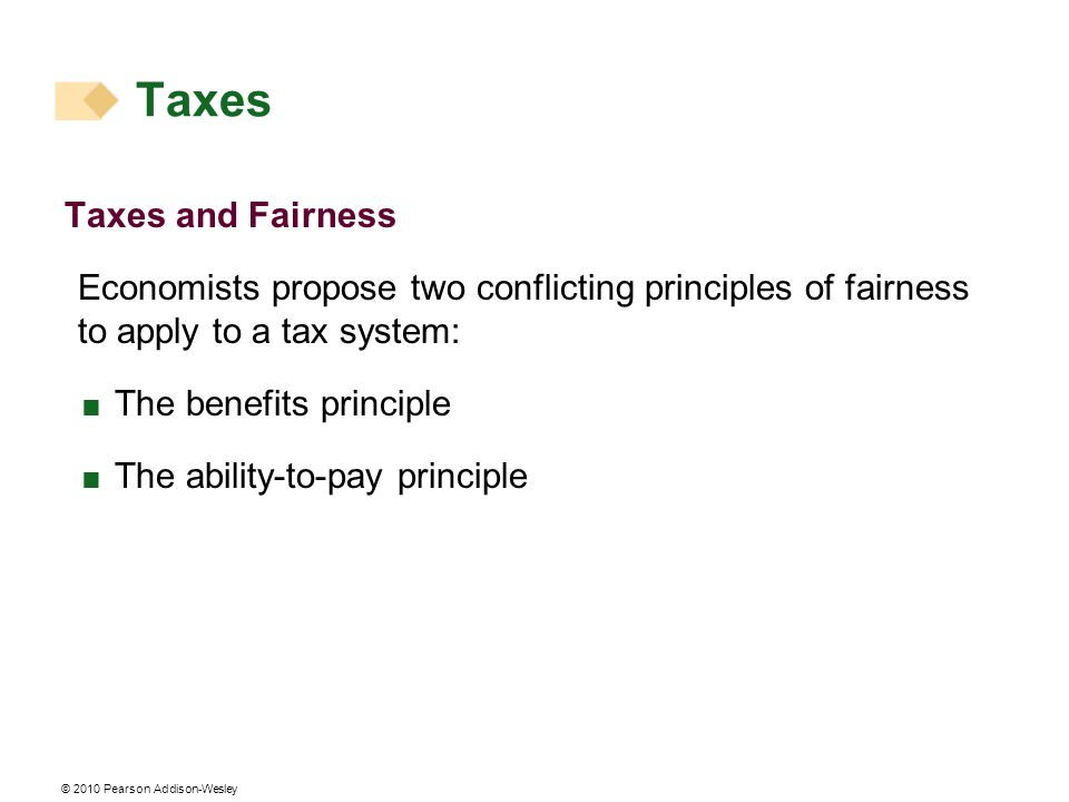 Taxes Taxes and Fairness