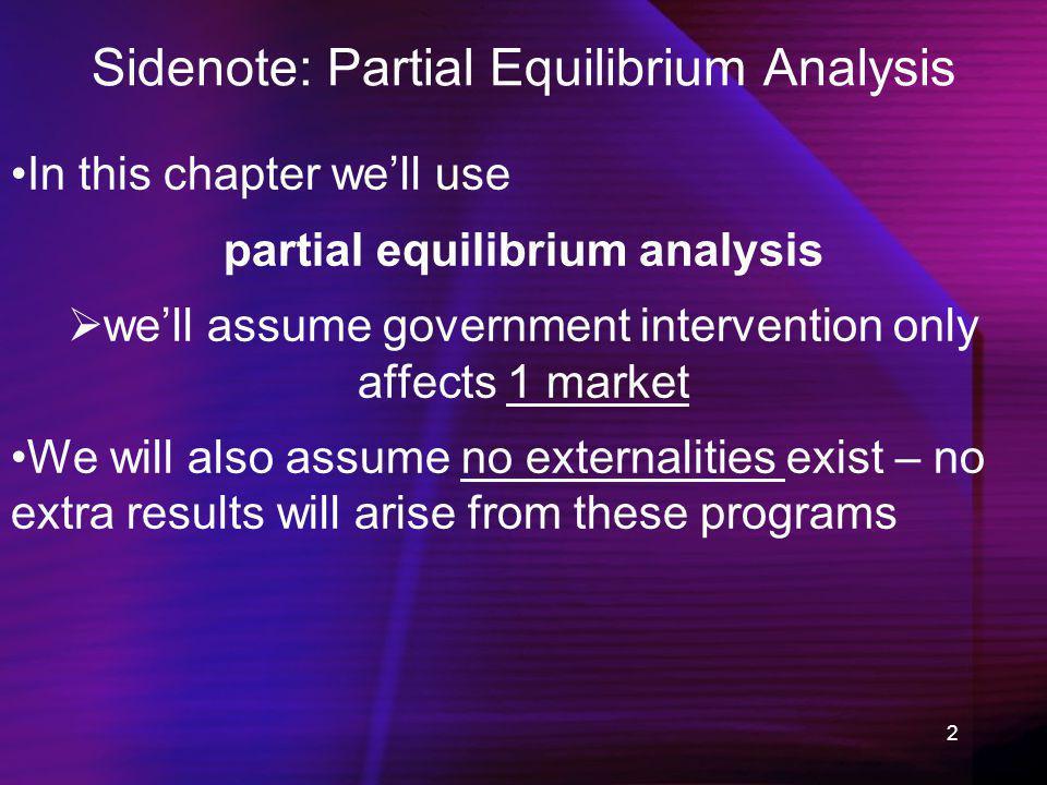 Sidenote: Partial Equilibrium Analysis