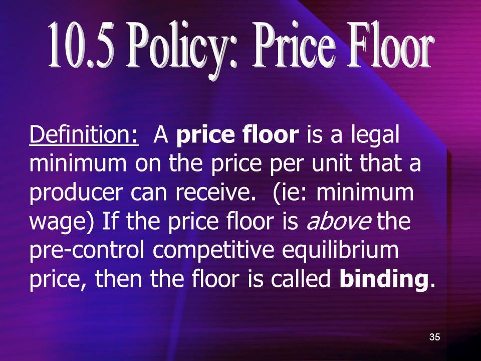 10.5 Policy: Price Floor