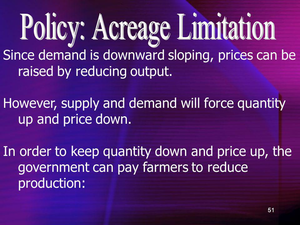 Policy: Acreage Limitation