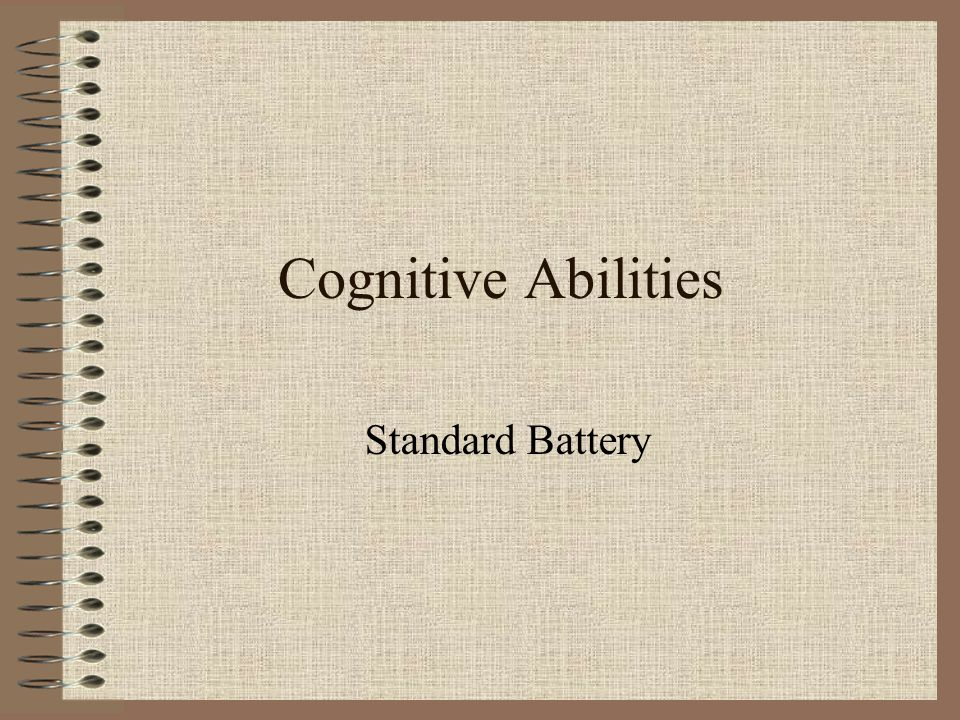 Cognitive Abilities Standard Battery