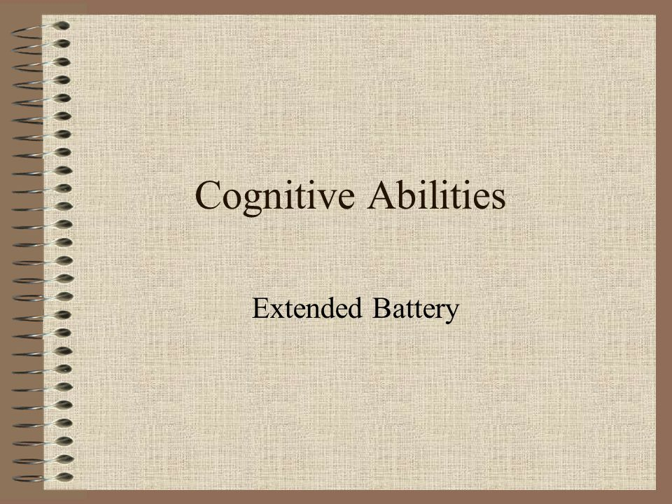 Cognitive Abilities Extended Battery