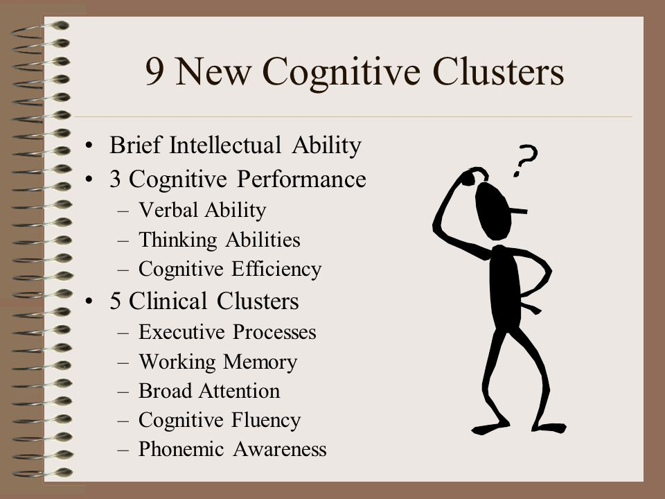 9 New Cognitive Clusters