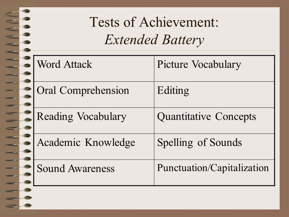 Tests of Achievement: Extended Battery