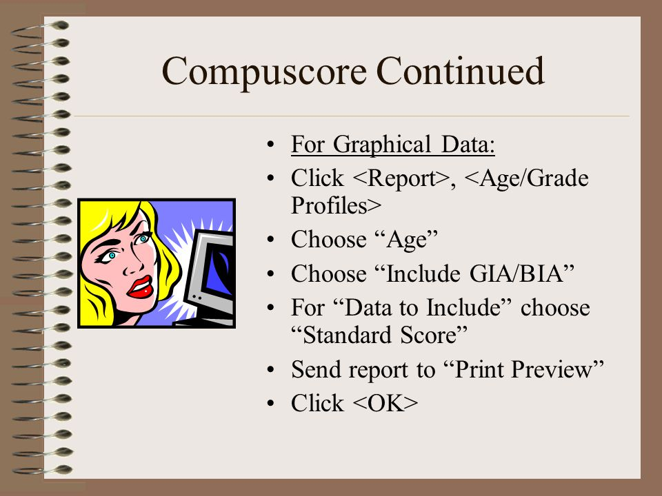 Compuscore Continued For Graphical Data: