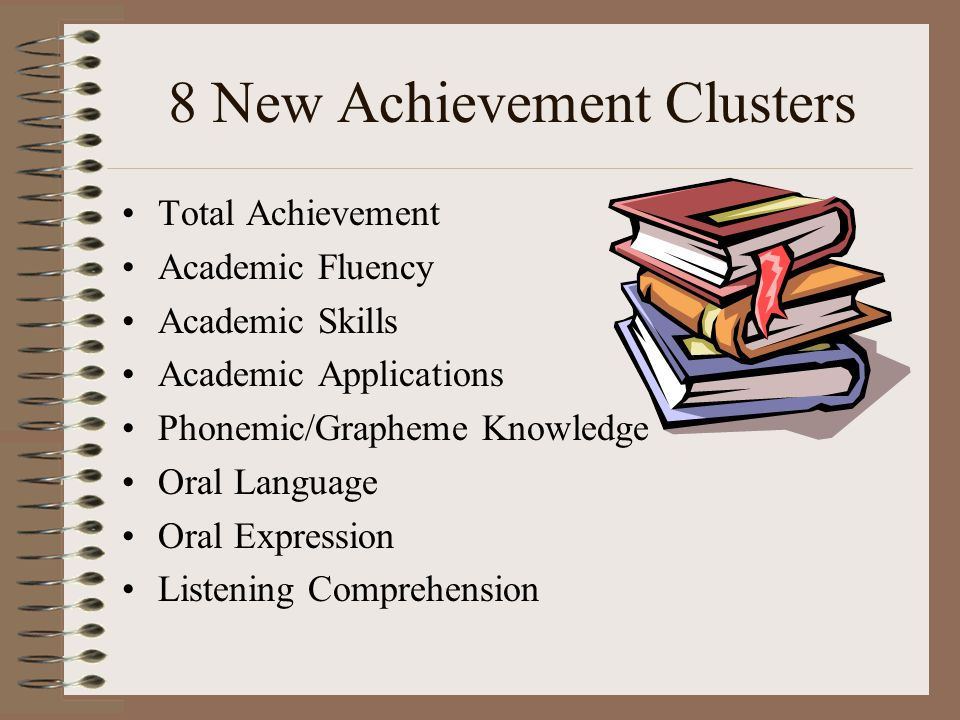 8 New Achievement Clusters