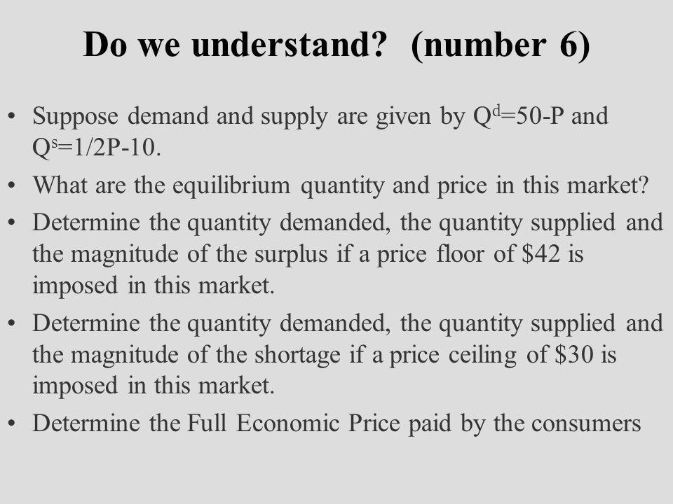 Do we understand (number 6)