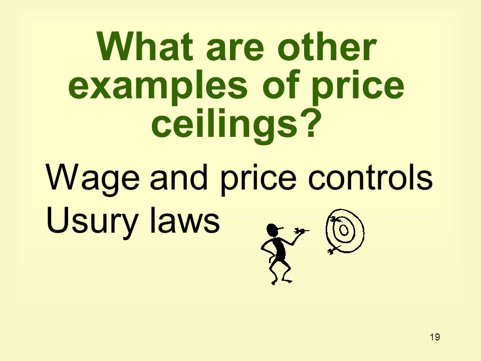 What are other examples of price ceilings