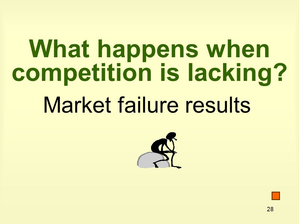 What happens when competition is lacking