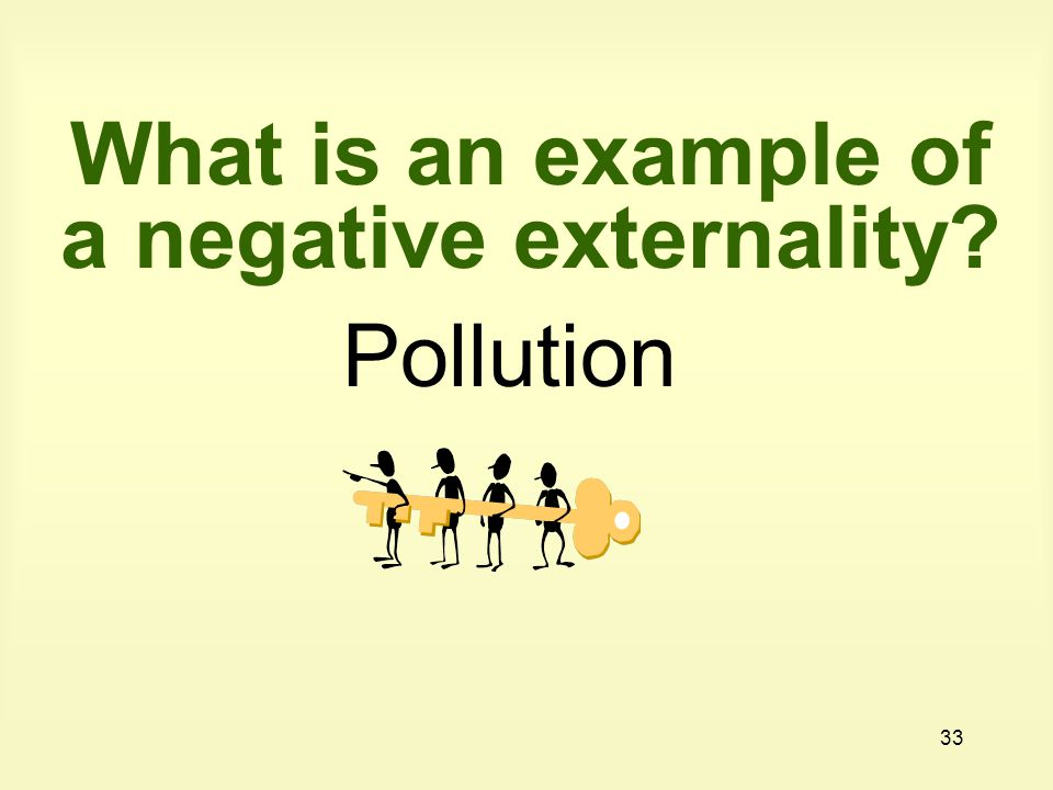 What is an example of a negative externality