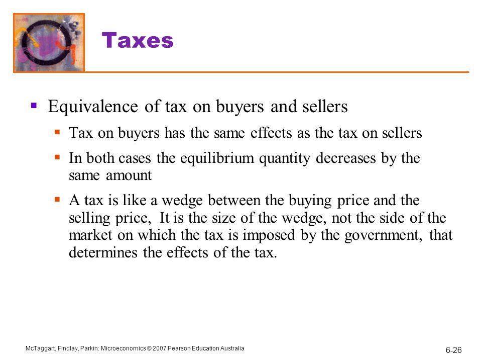 Taxes Equivalence of tax on buyers and sellers