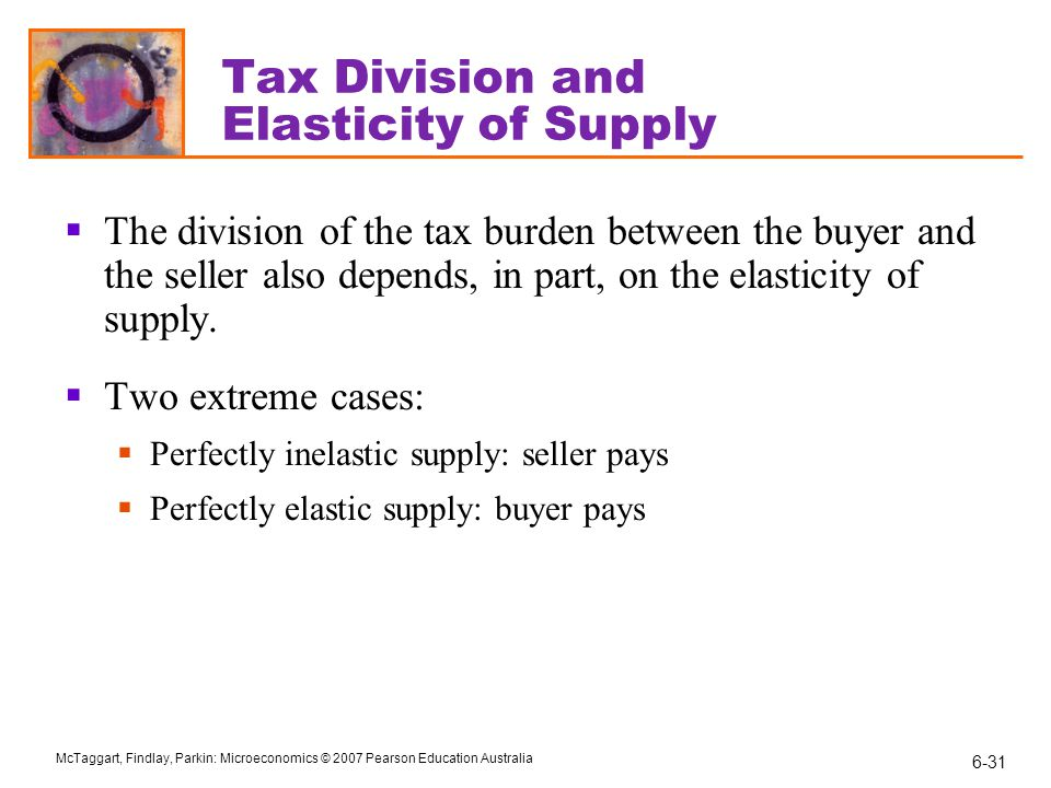 Tax Division and Elasticity of Supply